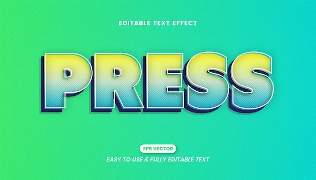 Effet de style de texte de lettre de presse modifiable