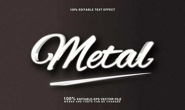 Effet de style de texte en métal argenté 3d