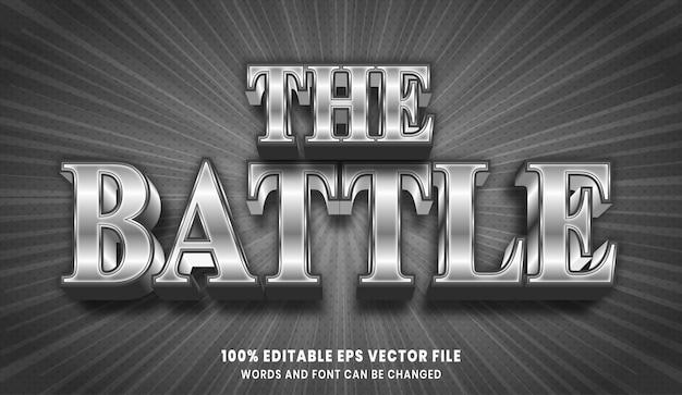 L'effet de style de texte modifiable 3d de la bataille