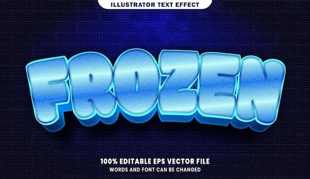 Effet de style de texte modifiable 3d congelé