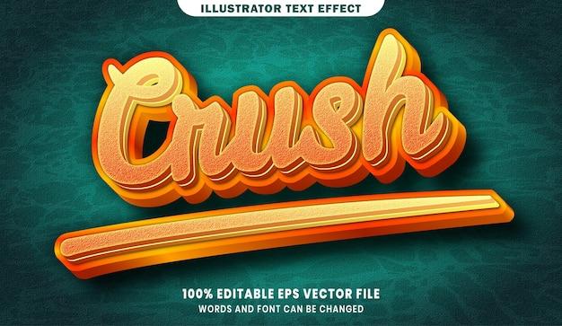 Effet de style de texte modifiable 3d crush