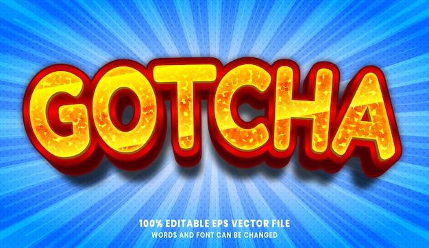 Effet de style de texte modifiable 3d gotcha
