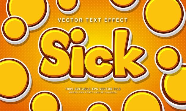 Effet de style de texte modifiable en 3d malade