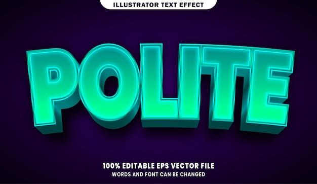 Effet de style de texte modifiable 3d poli