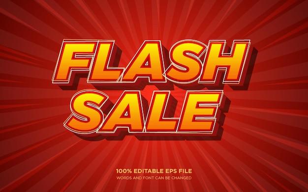 Effet de style de texte modifiable 3d de vente flash