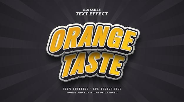 Effet de style de texte modifiable au goût d'orange