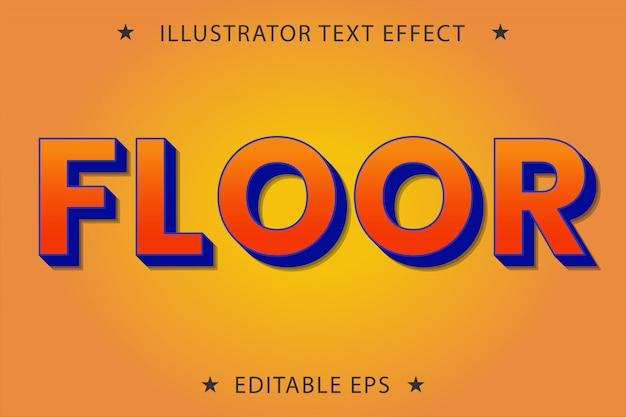 Effet de style de texte modifiable au sol
