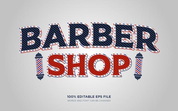 Effet de style de texte modifiable barbershop
