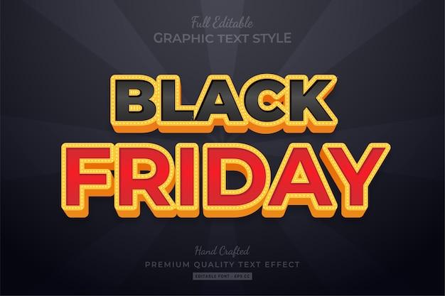 Effet de style de texte modifiable black friday