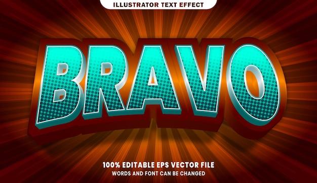 Effet de style de texte modifiable bravo 3d