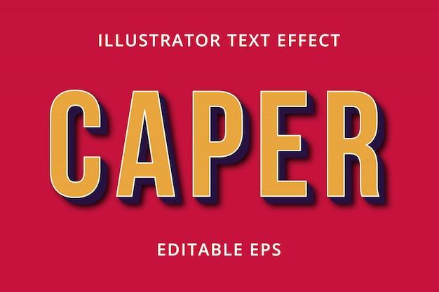 Effet de style de texte modifiable caper