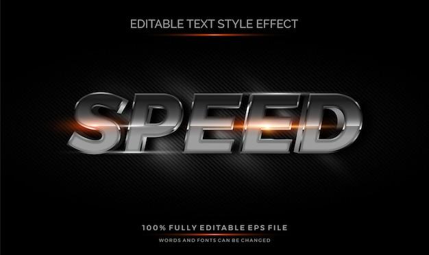 Effet de style de texte modifiable en carbone chrome 3d.