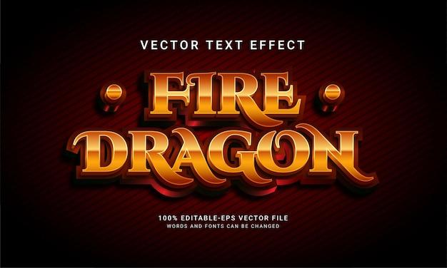 Effet de style de texte modifiable dragon de feu