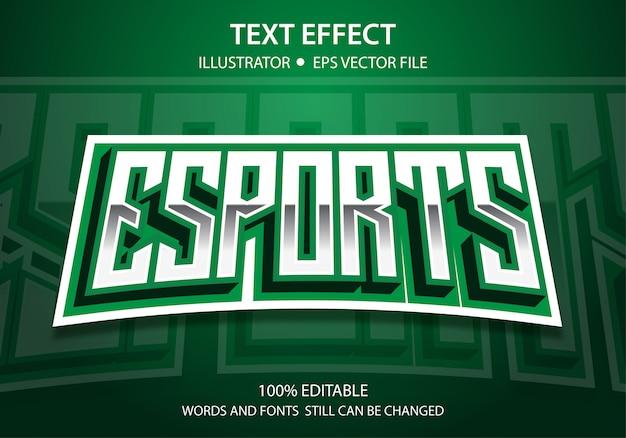 Effet de style de texte modifiable e-sport