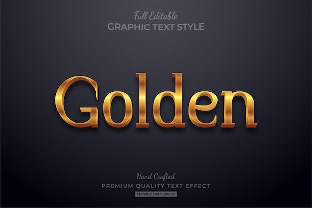 Effet de style de texte modifiable élégant doré