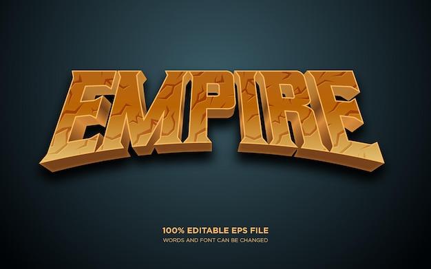 Effet de style de texte modifiable empire 3d
