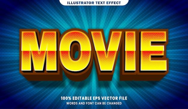 Effet de style de texte modifiable de film