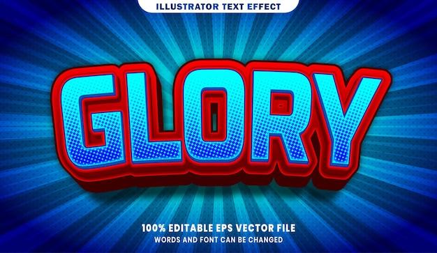 Effet de style de texte modifiable glory 3d
