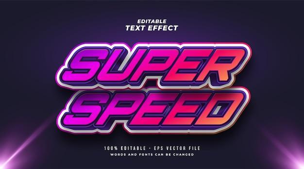 Effet de style de texte modifiable à grande vitesse