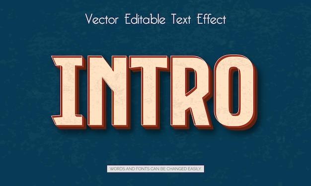 Effet de style de texte modifiable d'introduction