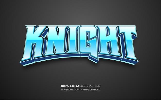Effet de style de texte modifiable knight 3d