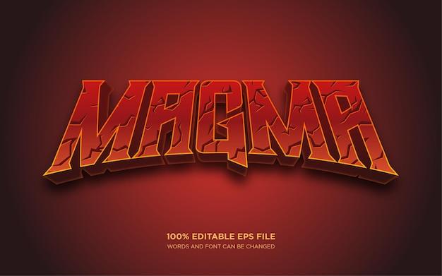 Effet de style de texte modifiable magma 3d