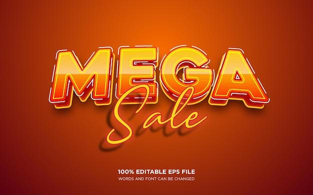 Effet de style de texte modifiable mega sale 3d