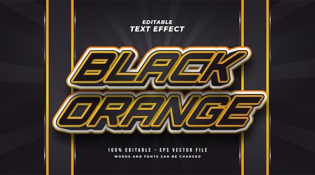 Effet de style de texte modifiable en noir et orange