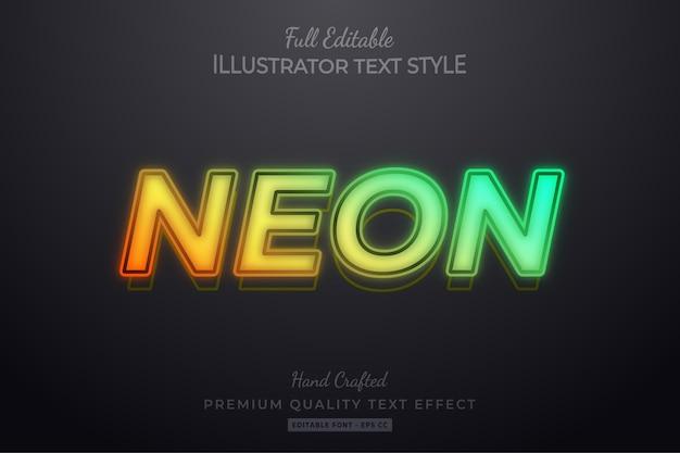 Effet De Style De Texte Modifiable Par La Flamme Vecteur Premium