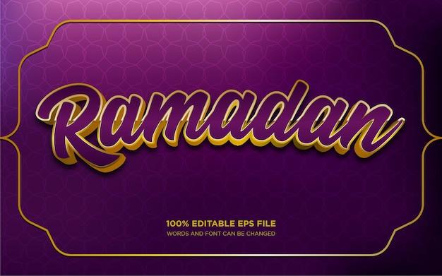 Effet de style de texte modifiable ramadan d