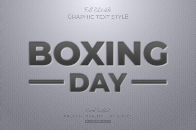 Effet de style de texte modifiable en relief boxing day premium