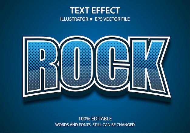 Effet de style de texte modifiable rock moderne