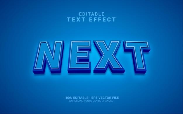 Effet de style de texte modifiable suivant 3d bleu
