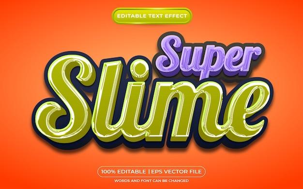 Effet de style de texte modifiable super slime adapté à l'événement d'halloween