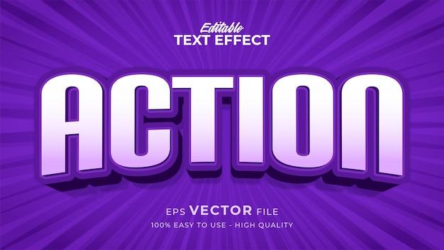Effet de style de texte modifiable - thème de style de texte d'action violet