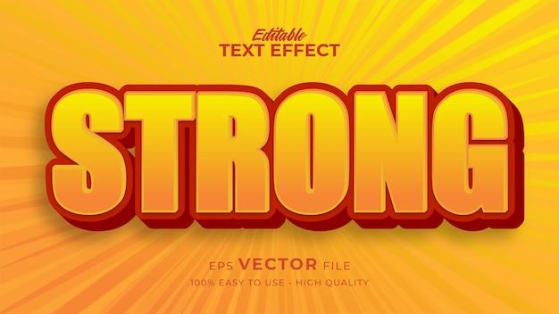 Effet de style de texte modifiable - thème de style de texte de bande dessinée jaune fort