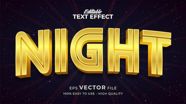 Effet de style de texte modifiable - thème de style de texte de ciel nocturne
