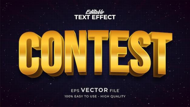 Effet de style de texte modifiable - thème de style de texte gold contest