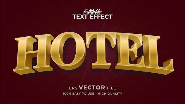 Effet de style de texte modifiable - thème de style de texte gold hotel