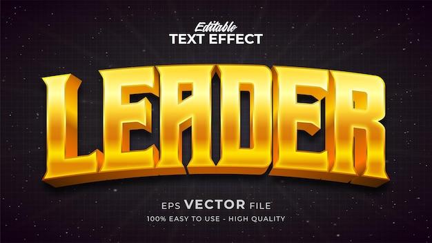 Effet de style de texte modifiable - thème de style de texte gold leader