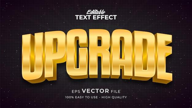 Effet de style de texte modifiable - thème de style de texte gold upgrade