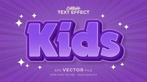 Effet de style de texte modifiable - thème de style de texte happy kids