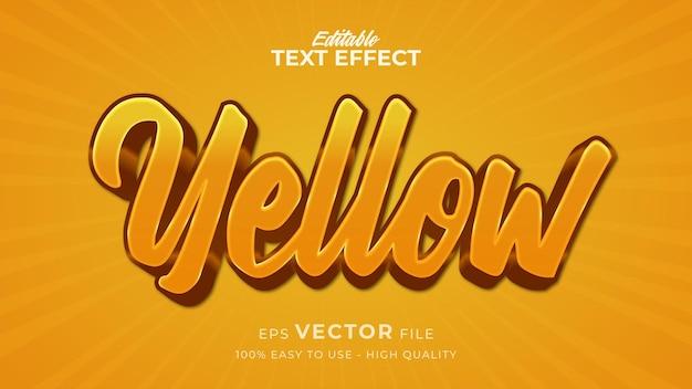 Effet de style de texte modifiable - thème de style de texte jaune