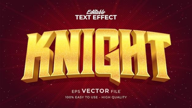Effet de style de texte modifiable - thème de style de texte knight