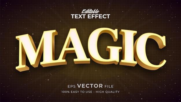 Effet de style de texte modifiable - thème de style de texte magique