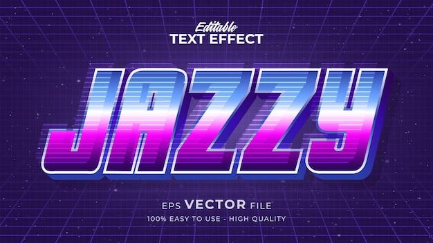 Effet de style de texte modifiable - thème de style de texte de musique
