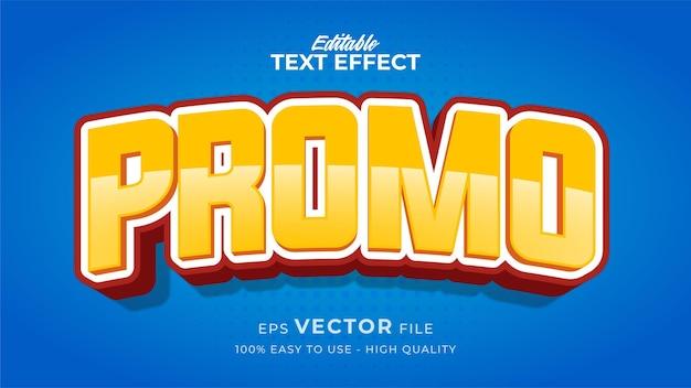 Effet de style de texte modifiable - thème de style de texte de promotion