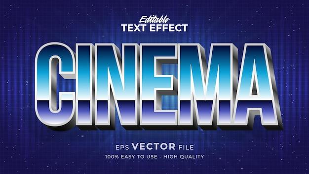 Effet de style de texte modifiable - thème de style de texte rétro cinéma