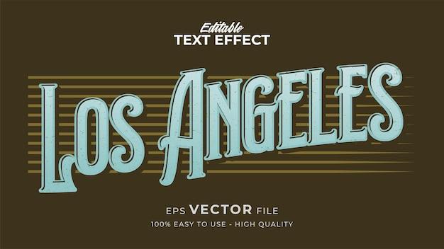 Effet de style de texte modifiable - thème de style de texte retro los angeles