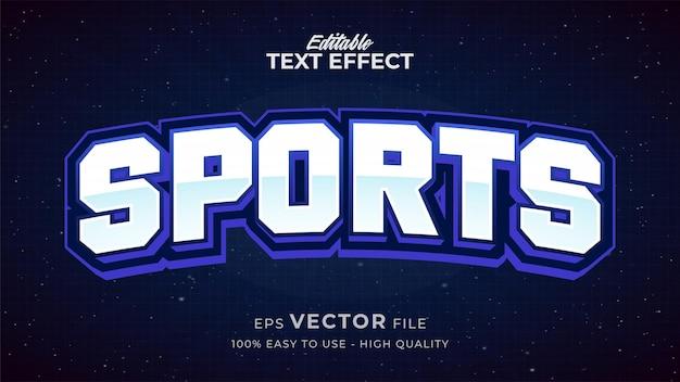 Effet de style de texte modifiable - thème de style de texte sportif